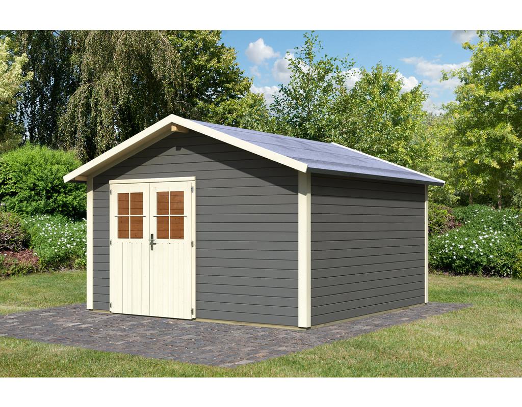 Gartenhaus oldeborg 2 eco 28 mm terragrau ka4220 for Karibu gartenhaus erfahrung